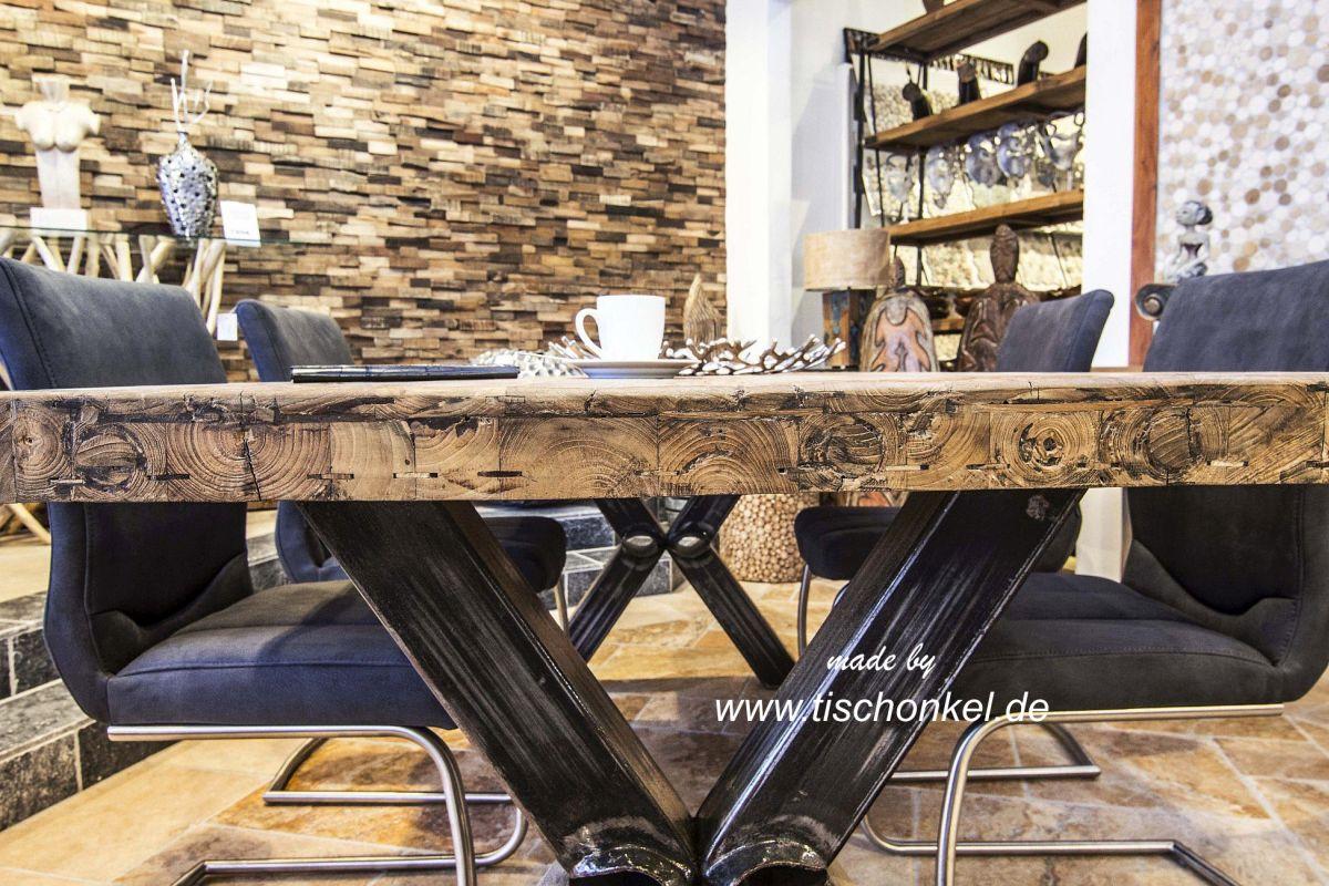 Esstisch industriedesign der tischonkel for Tisch industriedesign