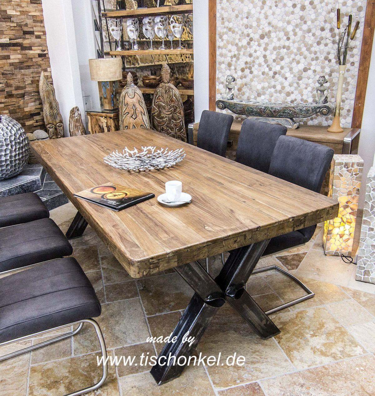 esstisch industriedesign der tischonkel esstisch industriedesign. Black Bedroom Furniture Sets. Home Design Ideas