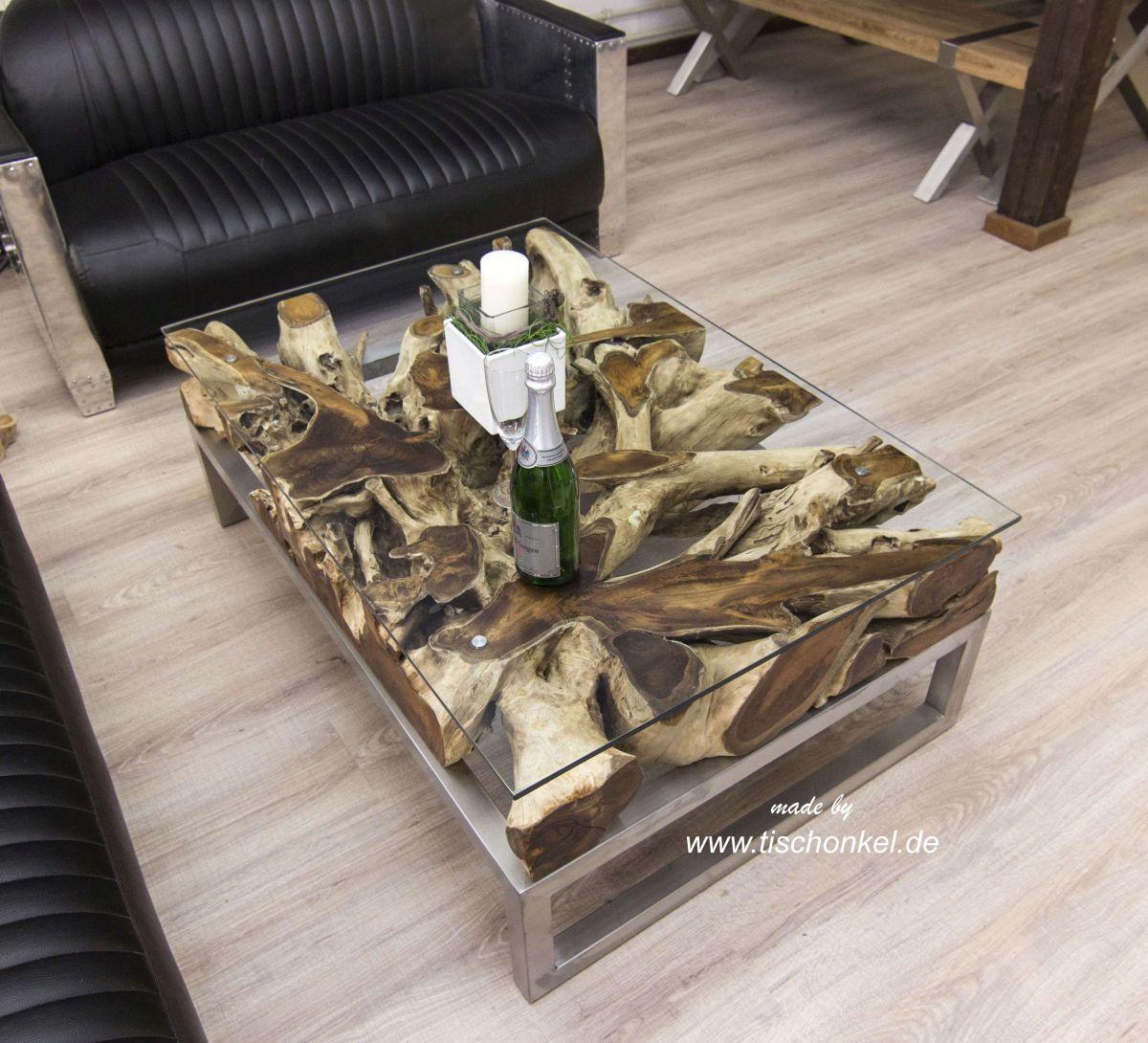 baumwurzel tisch kaufen midcentury teak baumwurzel couchtisch mit glas with baumwurzel tisch. Black Bedroom Furniture Sets. Home Design Ideas