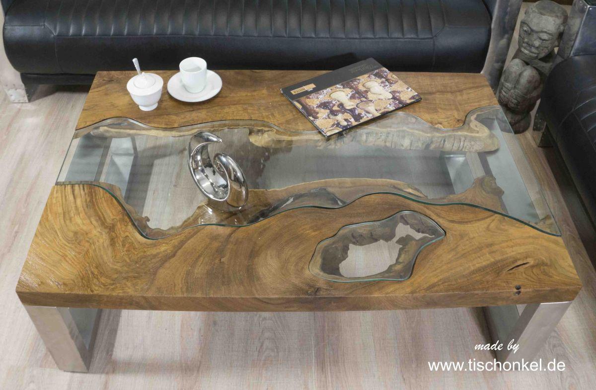 Design Couchtisch Aus Holz Der Tischonkel