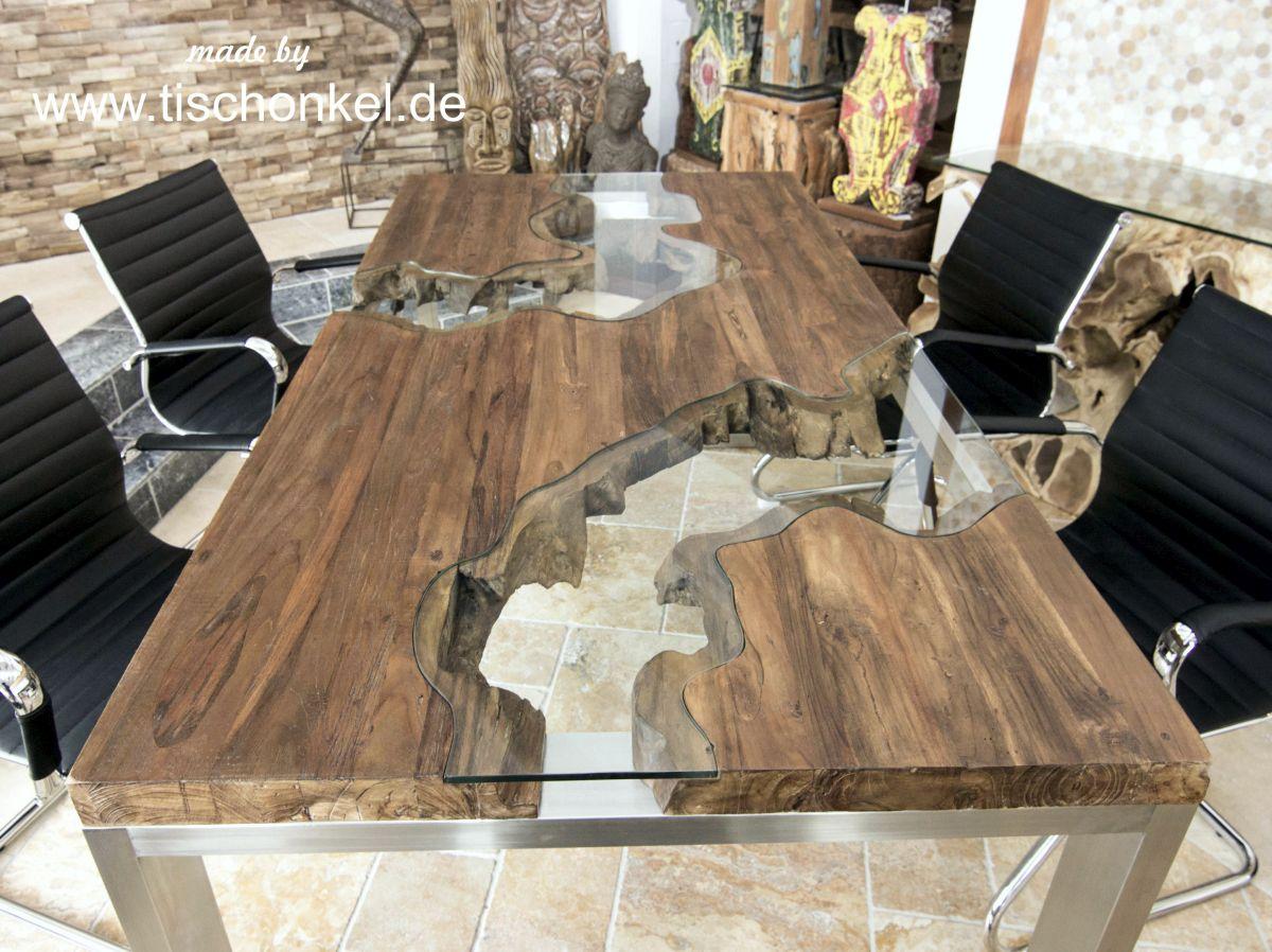 Designtisch Esstisch Aus Recyceltem Holz Der Tischonkel