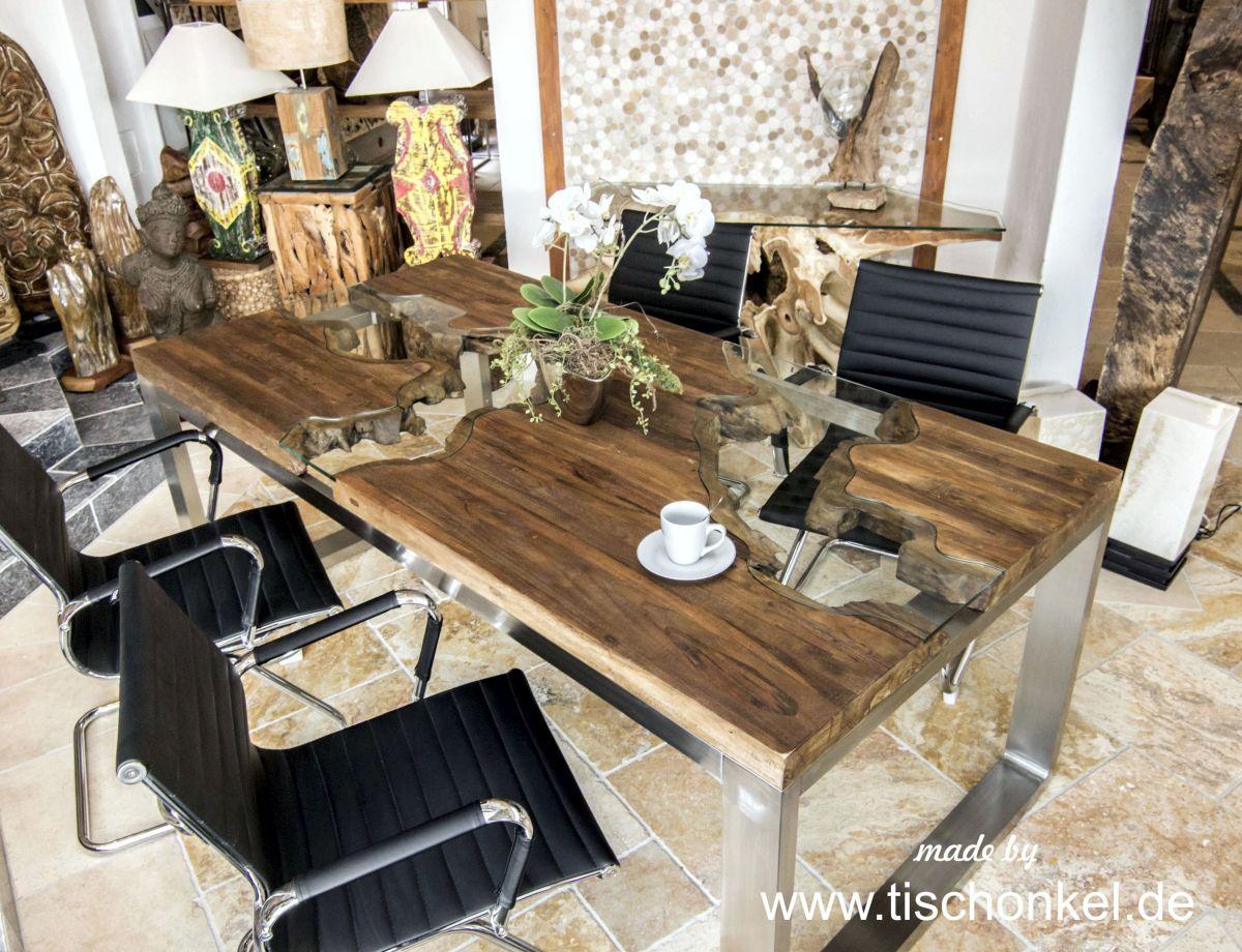 Designtisch Esstisch Aus Recyceltem Holz