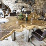 Eindrucksvoller Baumstamm Esstisch aus Suar