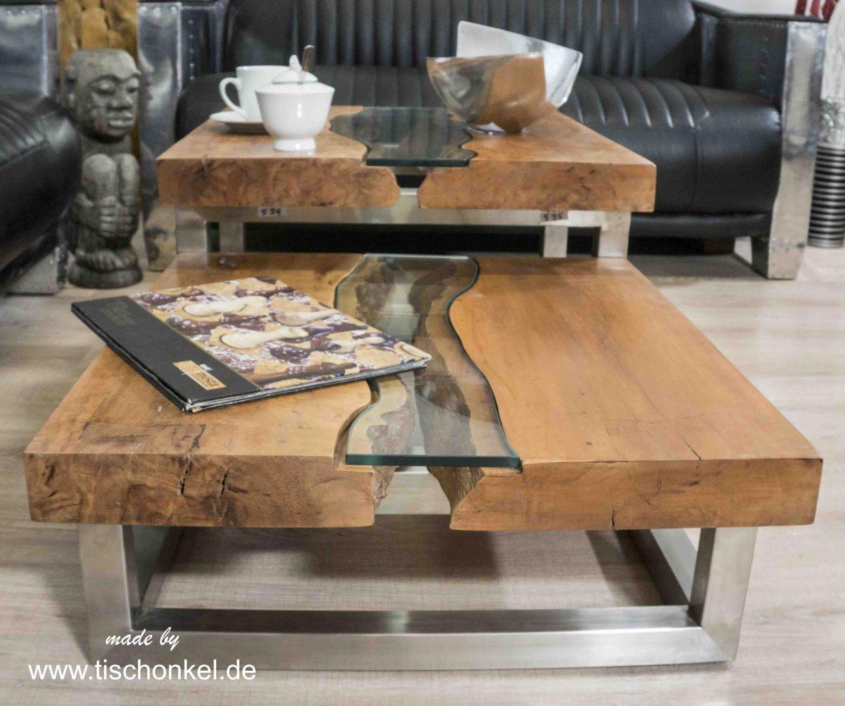Eleganter Couchtisch Aus Holz Der Tischonkel