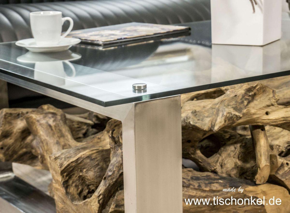 couchtisch baumwurzel  interesting couchtisch baumwurzel rund x massivholz suar glasplatte with
