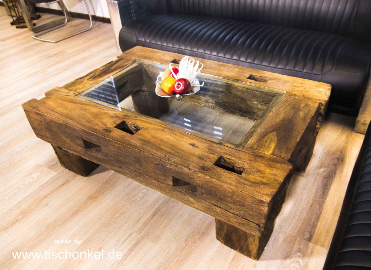Altholz Couchtisch Aus Abrisshausern Der Tischonkel