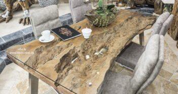 Aussergewöhnlicher Esstisch von Gerken Wohndesign