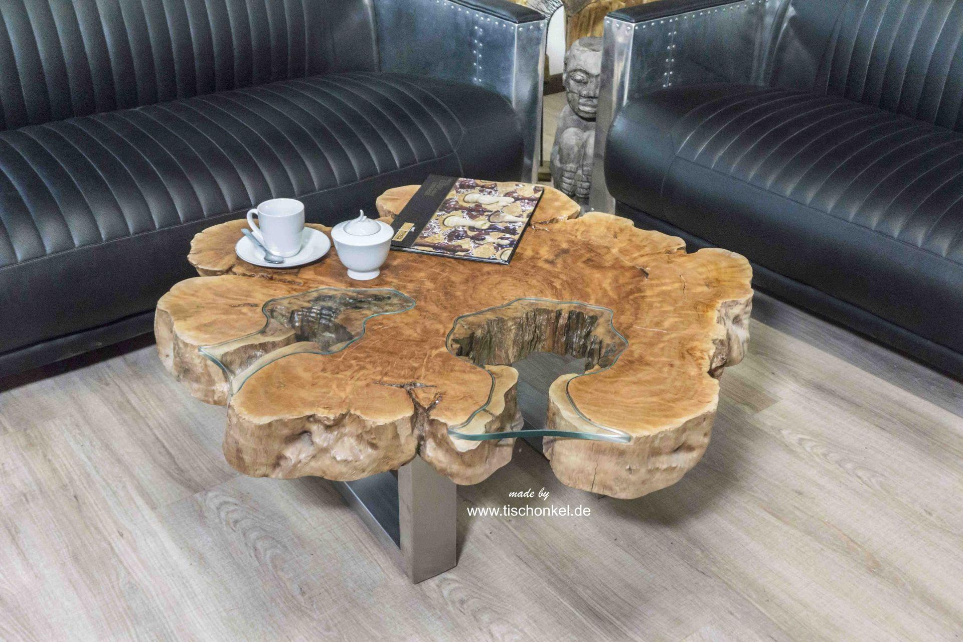 Baumstamm Couchtisch 9 cm - Der Tischonkel Couchtische