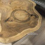 Baumstamm Couchtisch aus einer einer massiven Baumscheibe