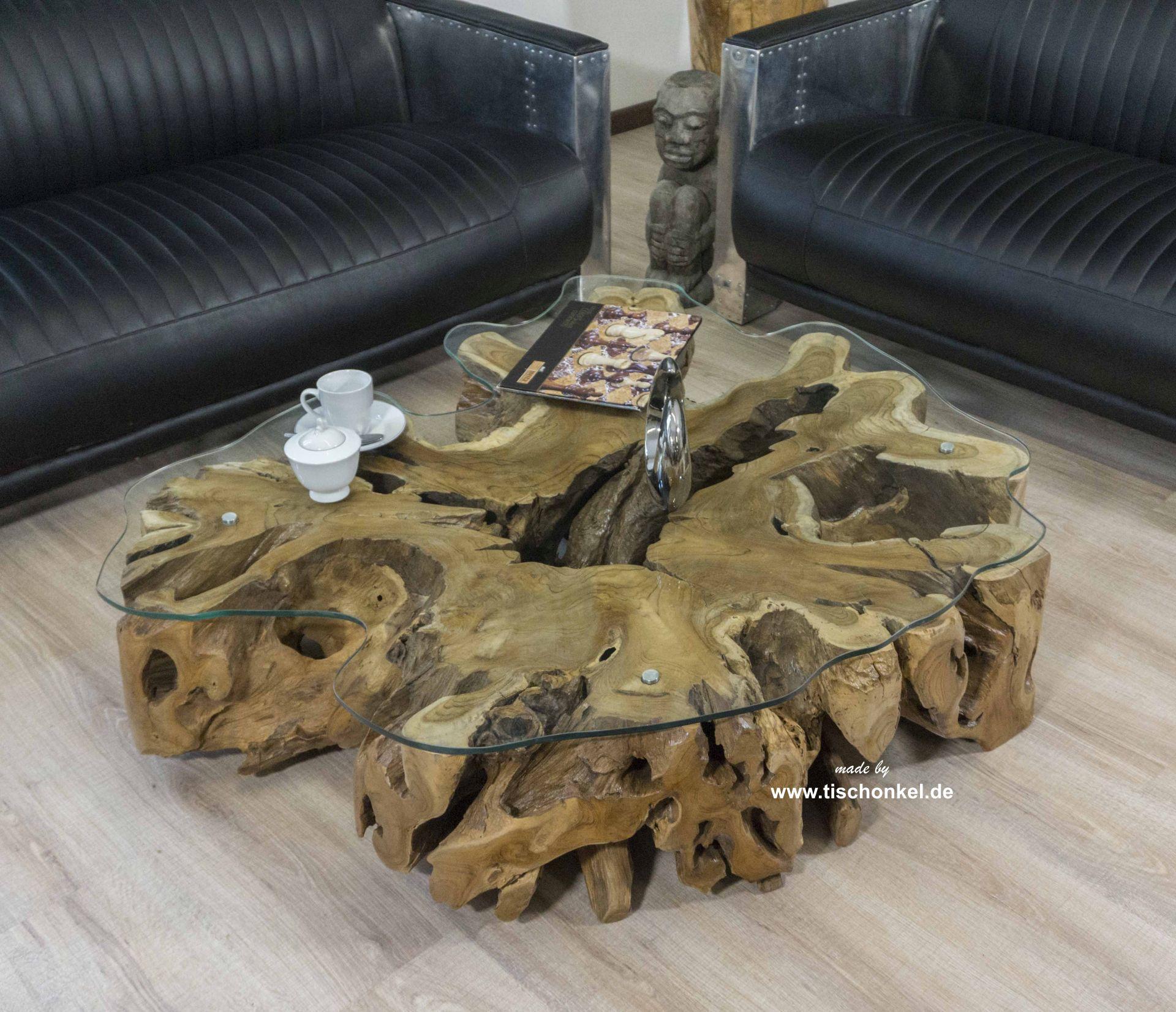 Couchtisch Baumwurzel 120x120 cm