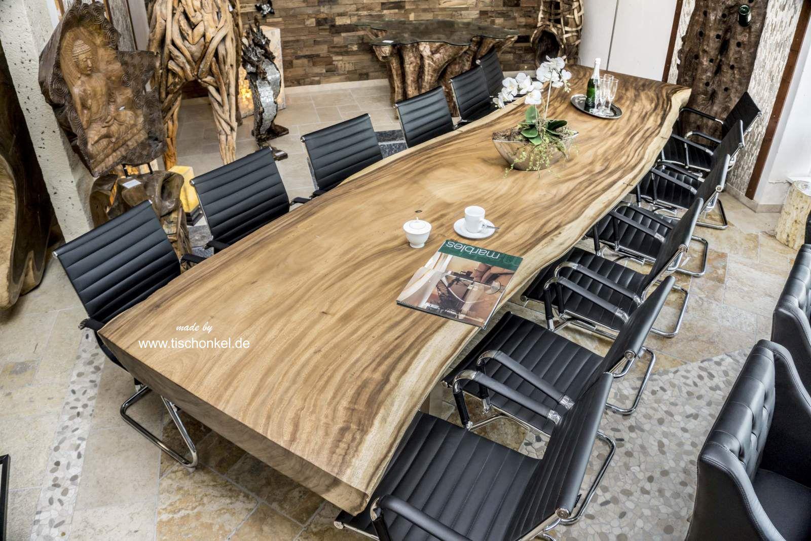 Esstisch Konferenztisch Aus Einer Massiven Bohle Lange 400 Cm