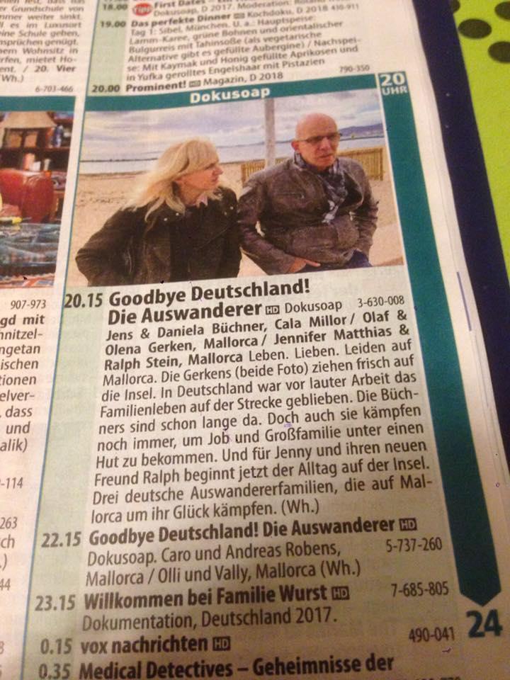 Programmankündigung zur Sendung Goodbye Deutschland