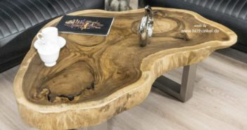 Genialer Couchtisch aus Holz