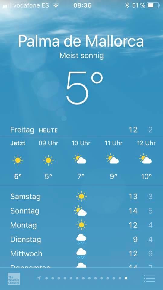 Goodbye Deutschland Temperaturen auf Mallorca