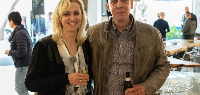 Olaf und Lena Gerken bei der Eröffnungsfeier von GERKEN Wohndesign auf Mallorca
