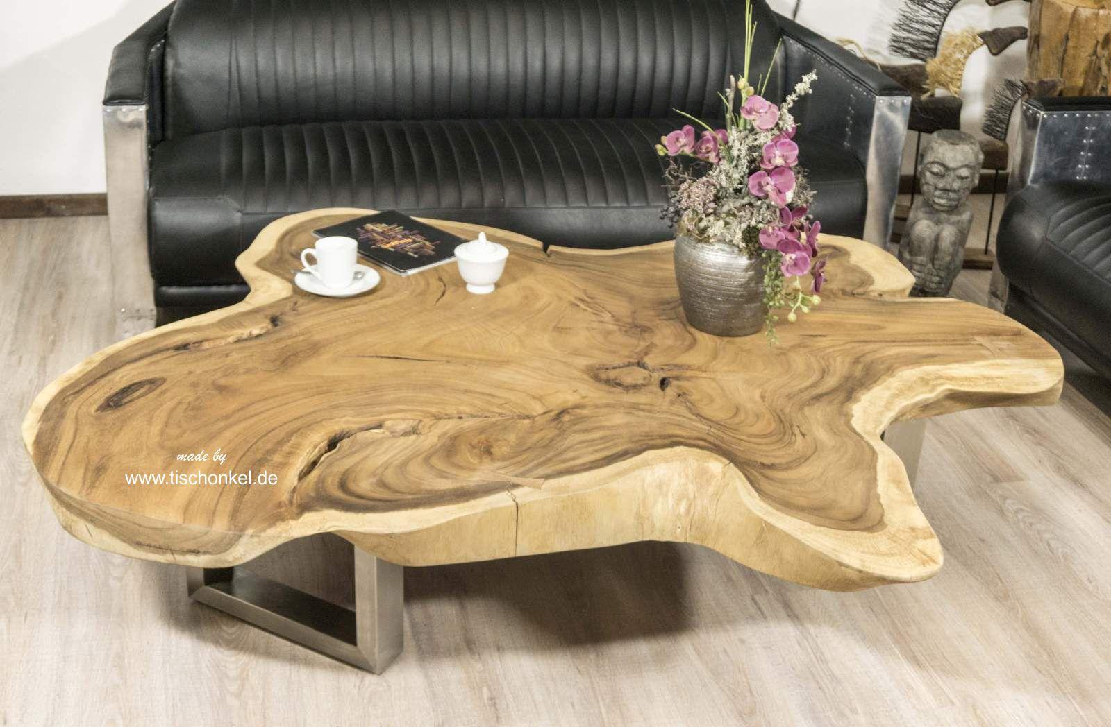 baumstamm couchtisch aus einer baumscheibe der tischonkel. Black Bedroom Furniture Sets. Home Design Ideas