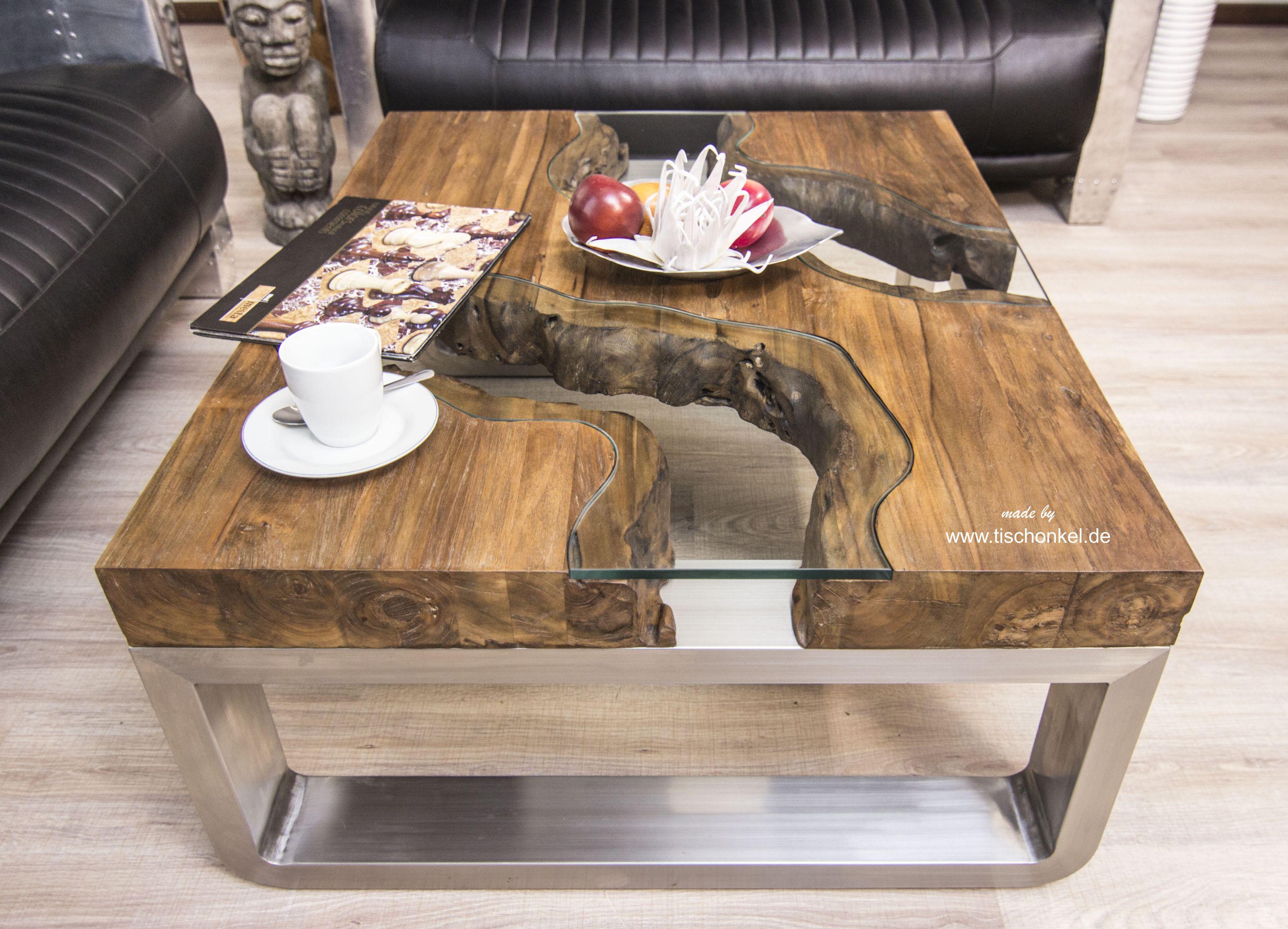 Couchtisch Aus Holz 100x80 Cm Wild Landscape