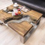 Couchtisch aus Holz 100x80 cm