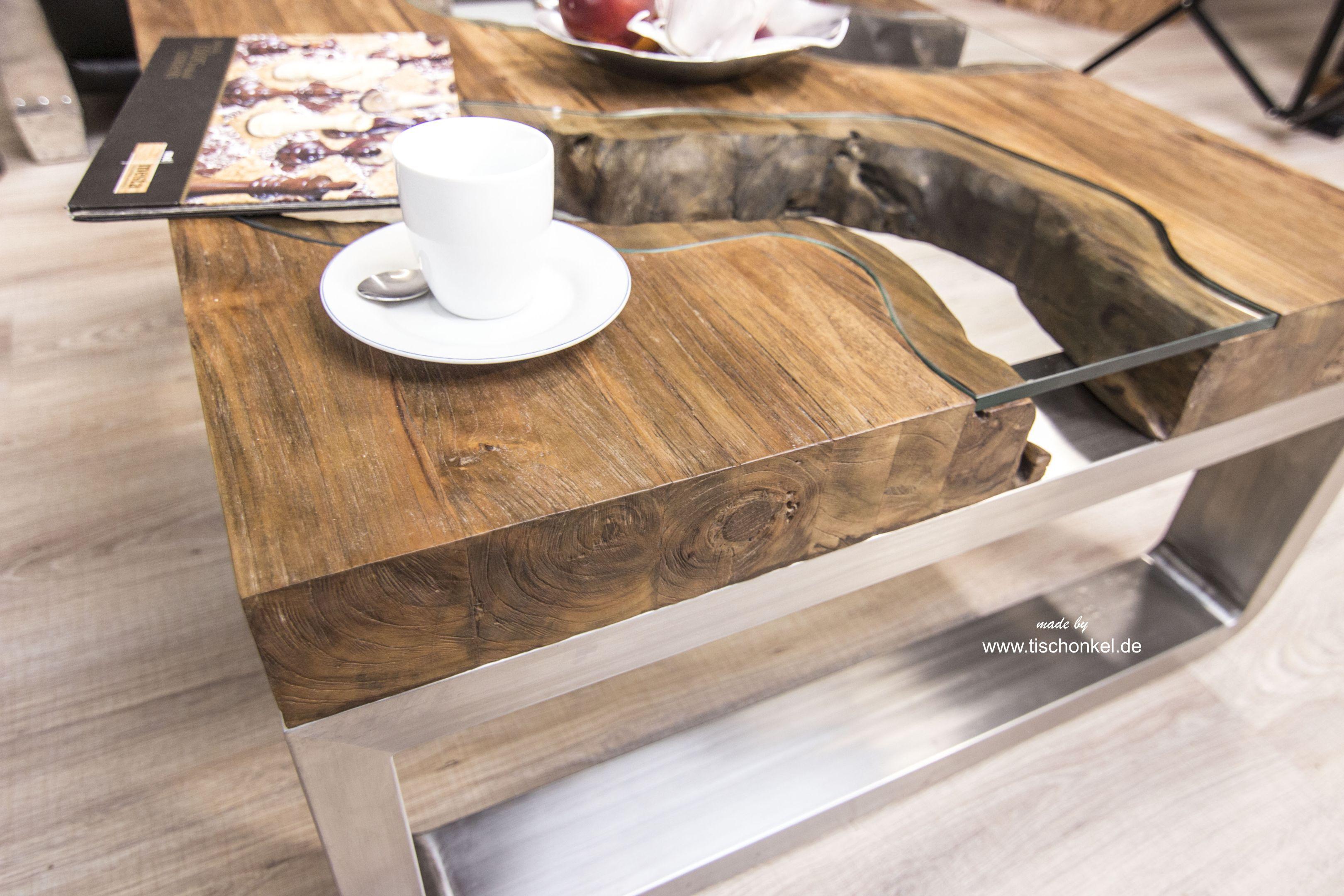 Couchtisch aus Holz 100x80 cm \