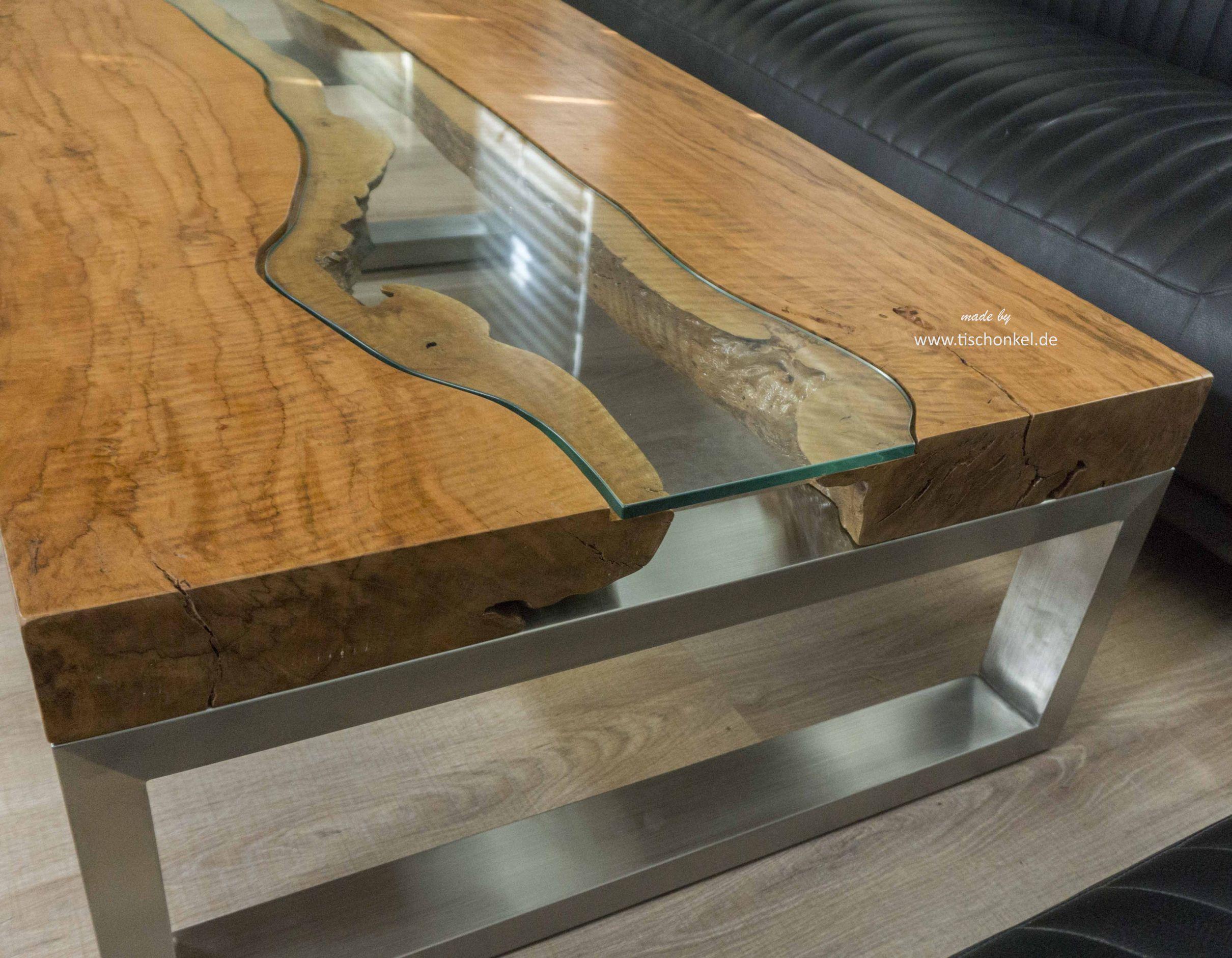 Eckiger Designer Wohnzimmertisch 120 X 80 Cm Aus Holz Der Tischonkel