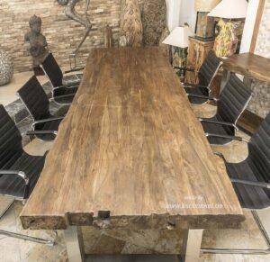 Altholz Tischplatte gebürstet und gewachst