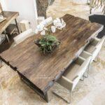 Esstisch 200 x 100 cm aus Altholz