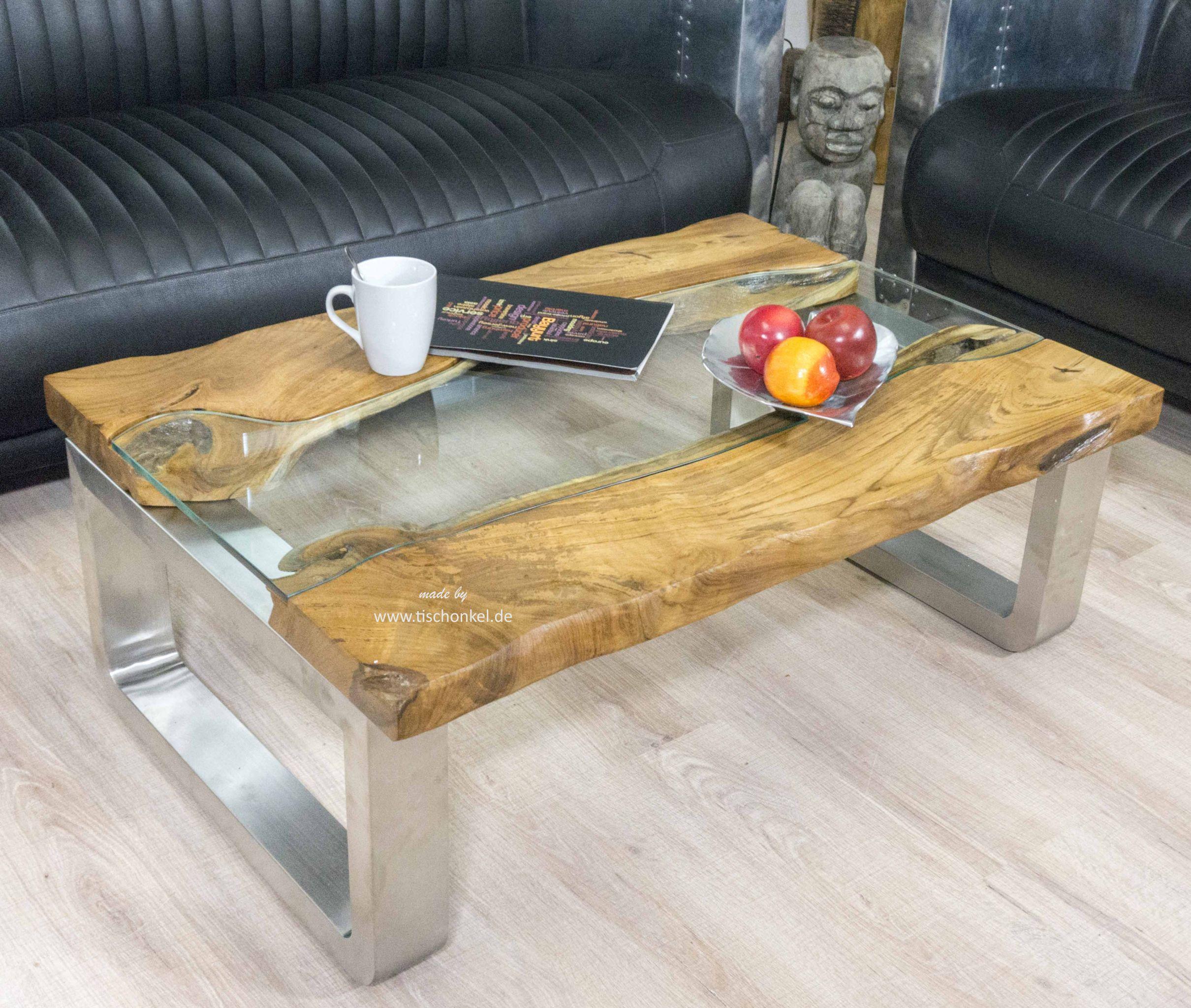 Moderner Couchtisch Aus Holz Im Format 120x80 Cm Der Tischonkel