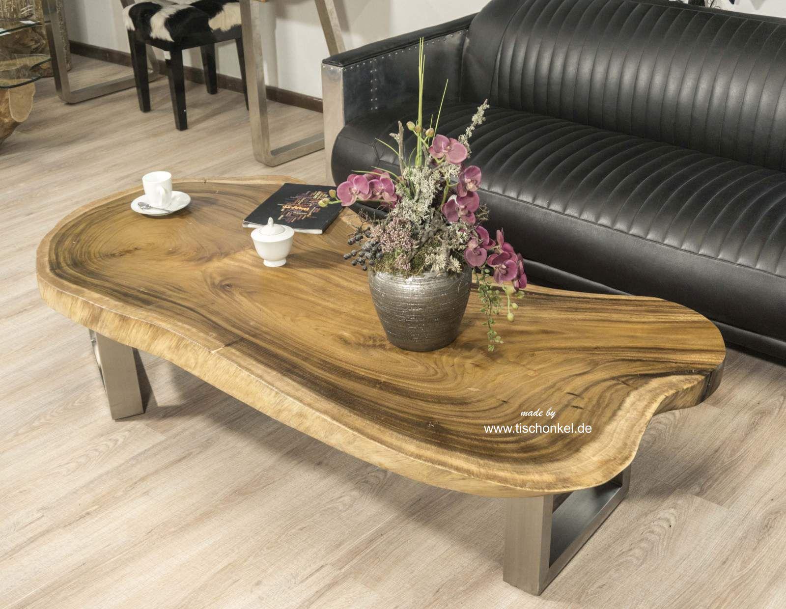 ovaler couchtisch aus einer baumscheibe suar der tischonkel. Black Bedroom Furniture Sets. Home Design Ideas