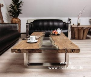 Stilvoller Couchtisch Old Elements 140x80 cm