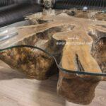 Baumstumpf Couchtisch mit aussergewöhnlichem Design