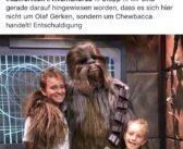 Dominik und Ivar Gerken treffen Chewbacca im Disneyland
