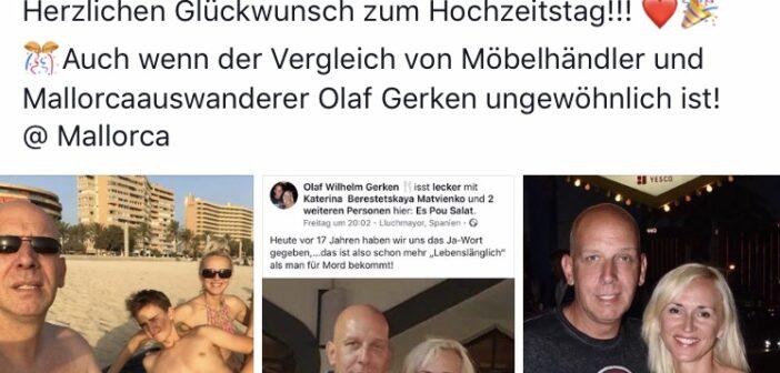 Lena und Olaf Gerken aus Goodbye Deutschland feiern den 17. Hochzeitstag