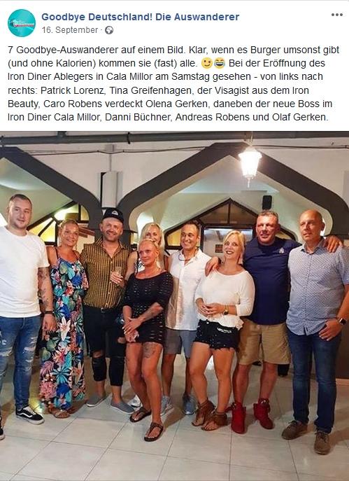 Olaf und Olena Gerken bei der Eröffnung des Iron Diner in Cala Millor
