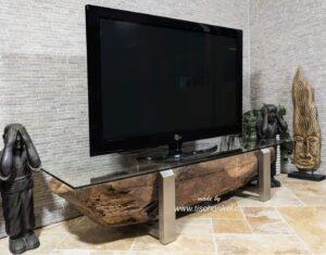 tv board aus holz