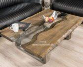"""Couchtisch aus Holz """"Old Elements"""" 100 x 80 cm"""