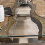 Couchtisch aus Holz 100 x 80 cm