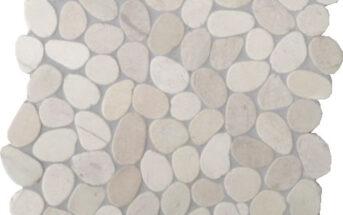 Kieselsteine auf Netz KM001B verfugt und versiegelt