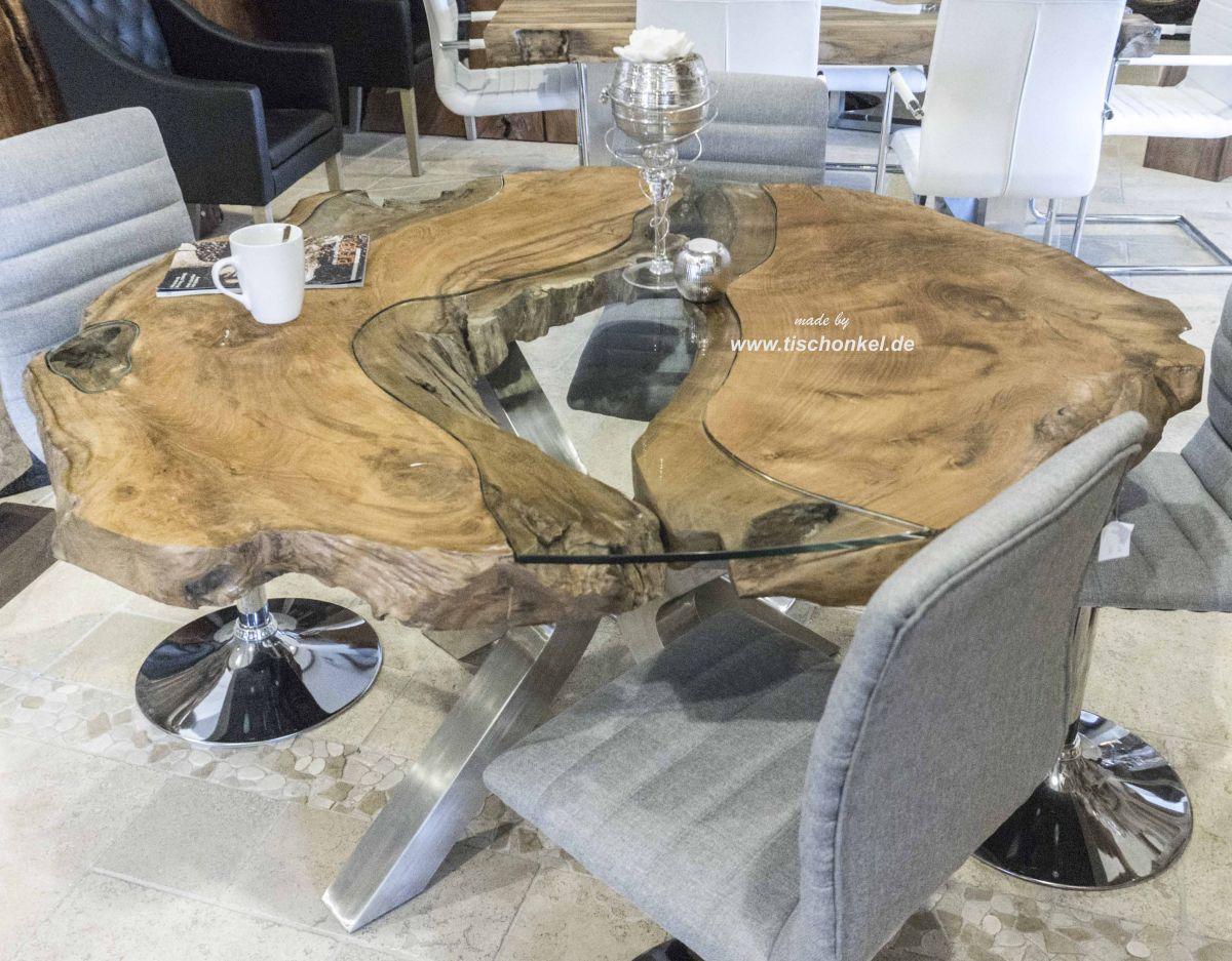 Runder Esstisch aus Altholz - Der Tischonkel