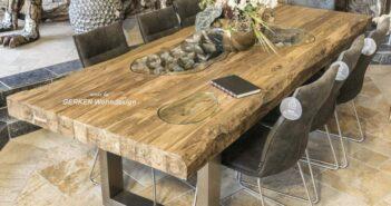 Echtholz Esstisch für 8 Personen