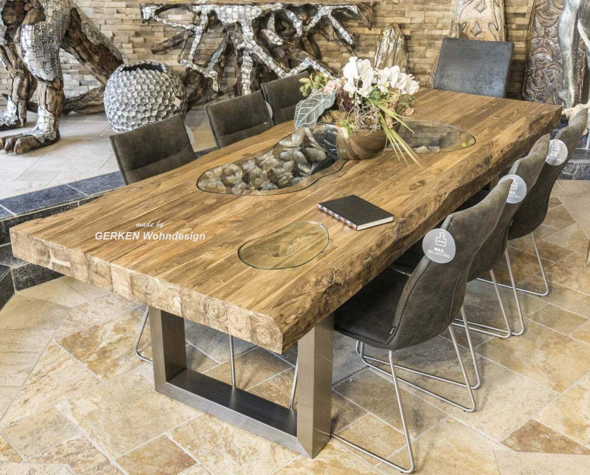 Echtholz Esstisch für 8 Personen Der Tischonkel