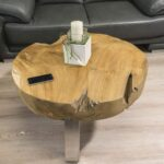 Baumstamm Couchtisch massives Holz