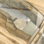 Glaseinlage in Esstisch
