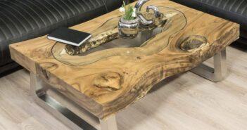 Couchtisch Maris aus Holz 120 x 80 cm