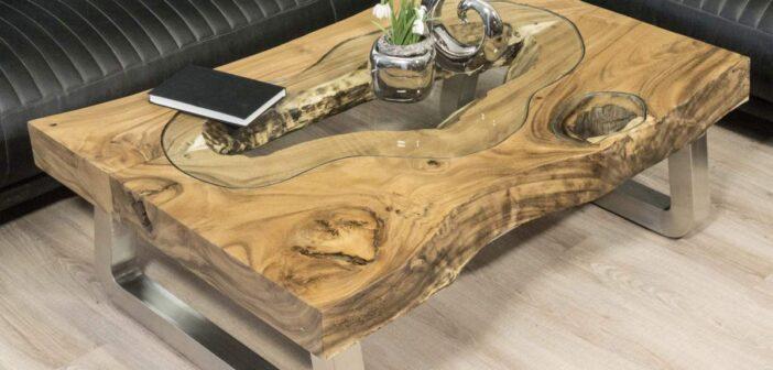 """Couchtisch aus Holz """"Maris"""" 120 x 80 cm"""