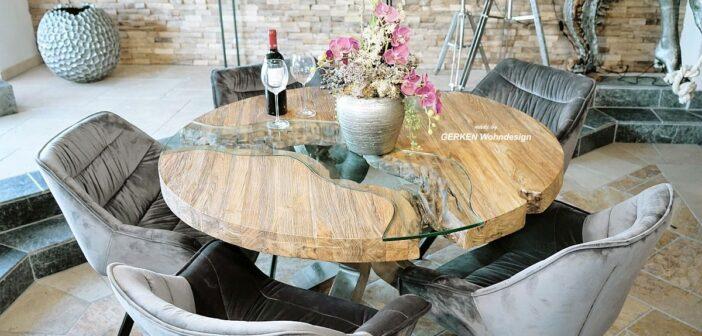 Esstisch rund aus Holz von GERKEN Wohndesign