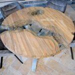 Esszimmertisch rund aus Holz