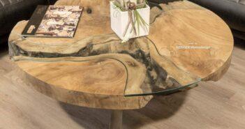 Runder Couchtisch aus Holz