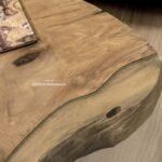 Runder Wohnzimmertisch aus Holz