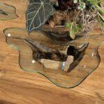 Esstisch Konferenztisch mit Glaseinleger