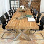 Konferenztisch 400 cm aus Altholz